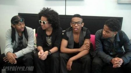 Mindless Behavior performing with Jacob Latimore at Citizens Bank Arena