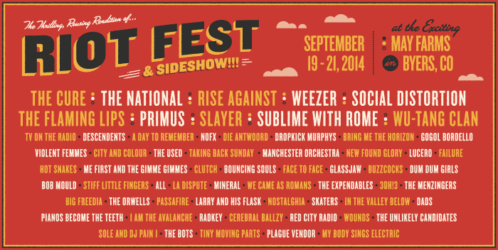 Riot Fest Denver line-up announced, includes speckling of hip-hop