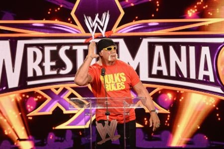 WWE Universe would always know when to get loud when Hulk Hogan would come out to the ring, as he would walk corner to corner and cup his ha