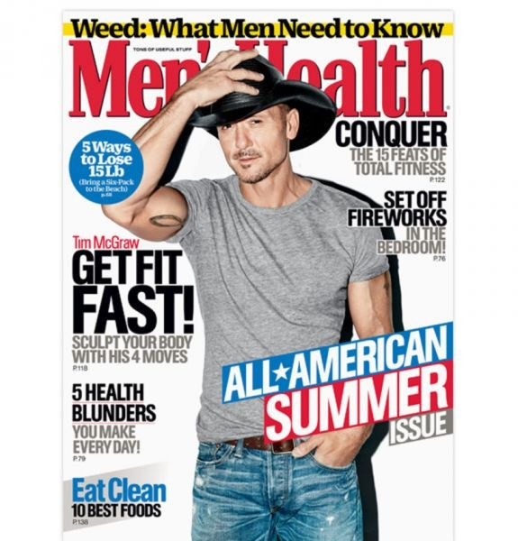 Tim McGraw covers new Men's Health, opens up about party past and future body