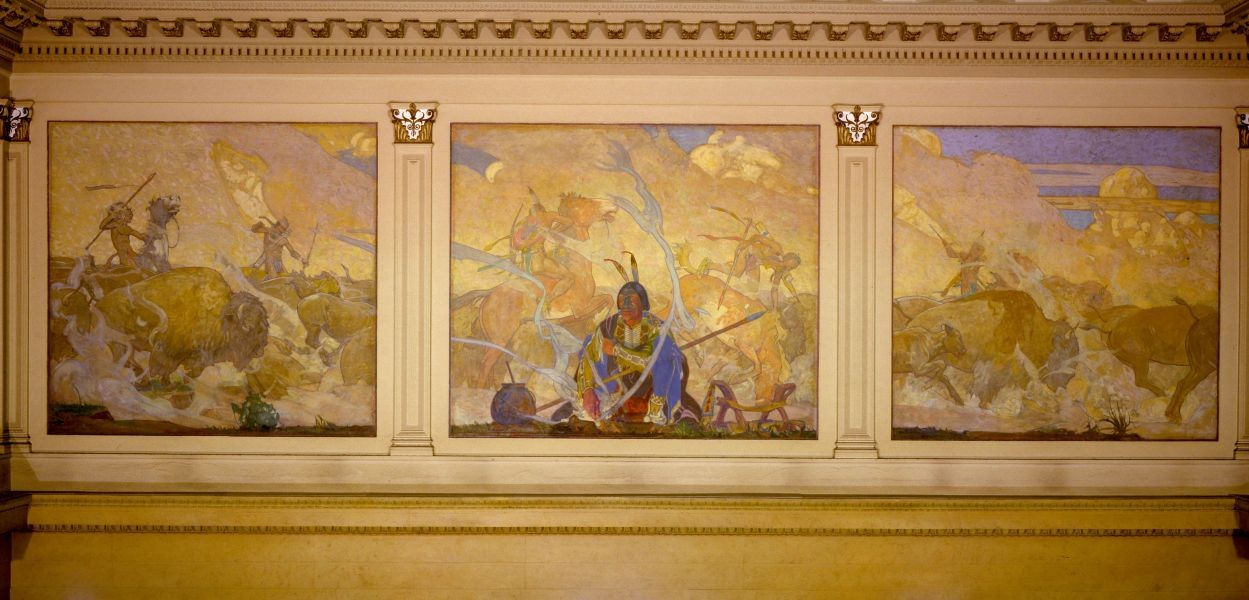 Changing the concept of hotel art: Historic murals by Allen Tupper True