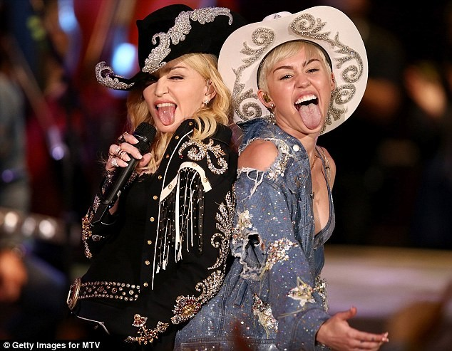 Miley Cyrus and Madonna perform together on 'MTV Unplugged'
