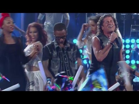 Carlos Vives and ChocQuibTown first performance together at Premios Juventud