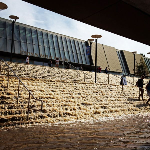UCLA's Pauley Pavilion washed out by flood