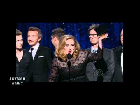Adele and Foo Fighters sweep Grammys; Whitney Houston given tribute