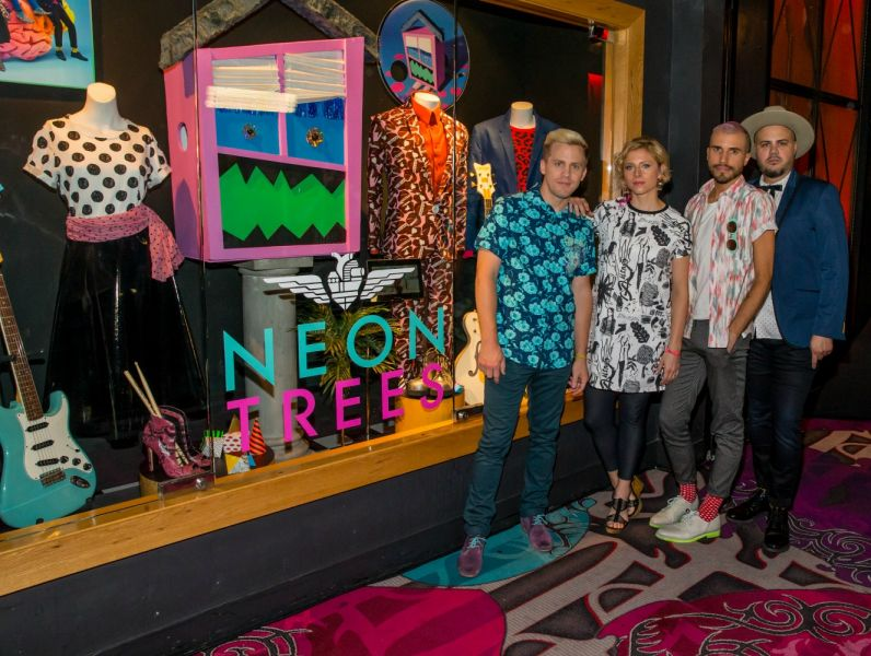 Neon Trees unveil memorabilia display at the Hard Rock Hotel & Casino Las Vegas