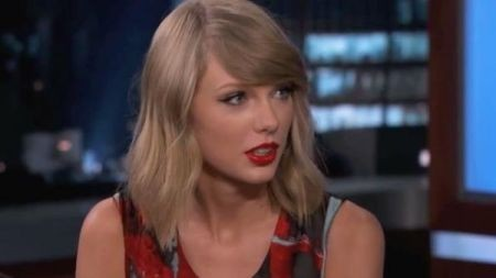 Taylor Swift performs 'Shake It Off' on 'Jimmy Kimmel Live'