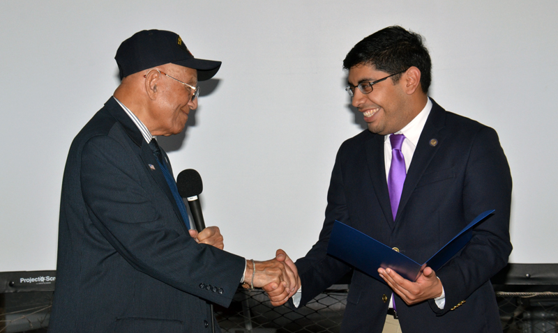 USS Iowa honors surviving Tuskegee Airman for Black History Month