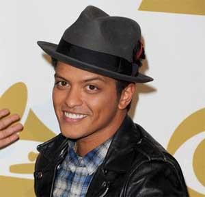 Bruno Mars backstage at the 2011 Grammy Nominations Concert