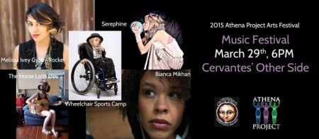 The Athena Project mini-festival will feature new music by Wheelchair Sports Camp, Bianca Mikahn, Melissa Ivey the Gypsy Rocker, Serephine,