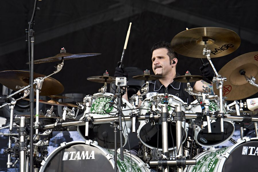 Charlie Benante performs with Anthrax at Rock on the Range in Columbus, Ohio