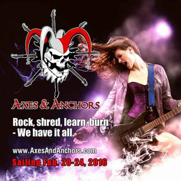 Axes & Anchors Cruise, guitar heaven on the sea, happening in 2016