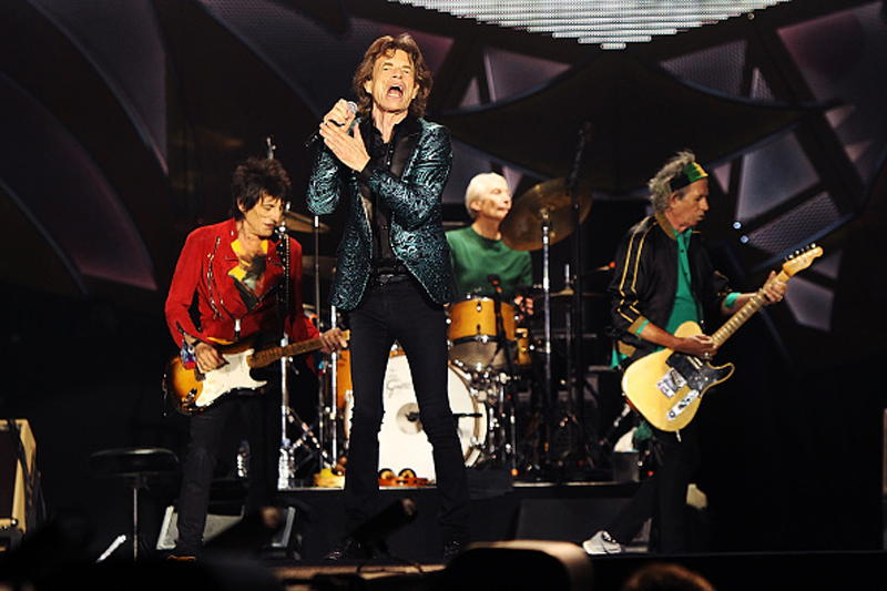 Ronnie Wood, Mick Jagger, Charlies Watts and Keith Richards at the Rolling Stones' concert in Adelaide, Australia, on Oct. 25, 2014