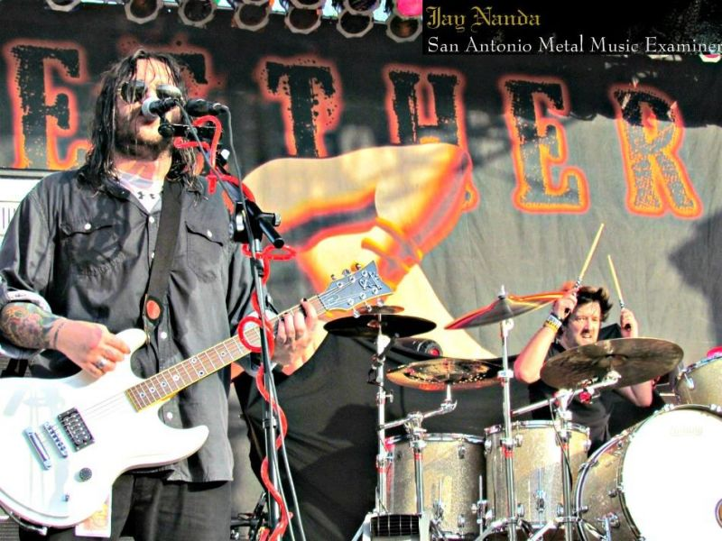 Seether's Shaun Morgan and drummer John Humphrey, shown during a 2012 performance at Sunken Garden Theater, will return to the city Oct