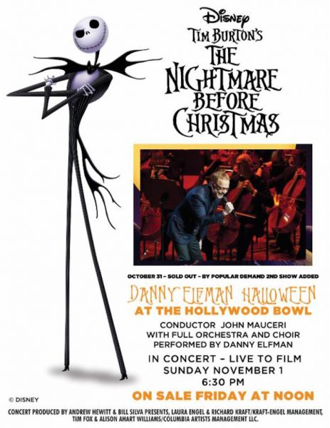Danny Elfman adds a second Halloween performance at the Hollywood ...