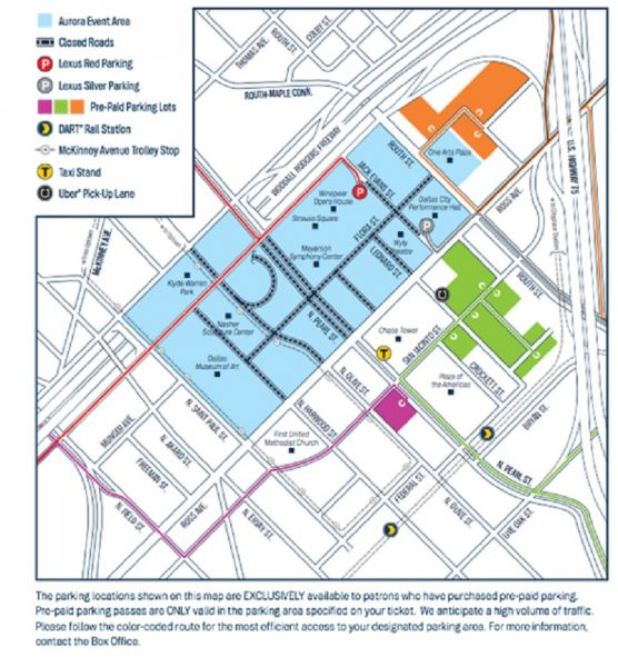 Aurora festival parking map