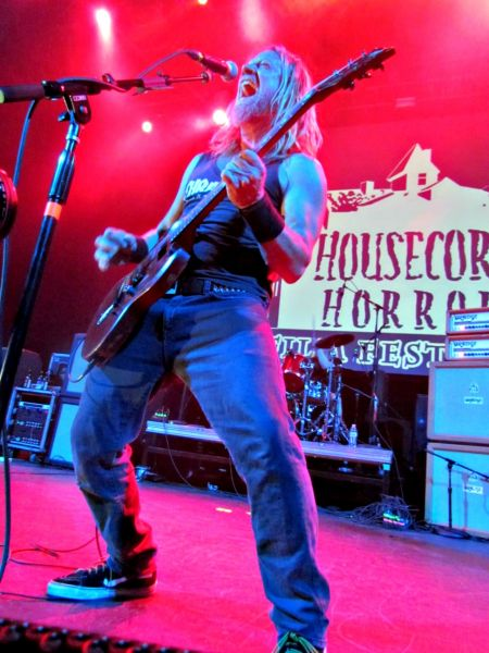Corrosion Of Conformity vocalist/guitarist Pepper Keenan lets loose during Phil Anselmo's third annual Housecore Horror Film Festival o