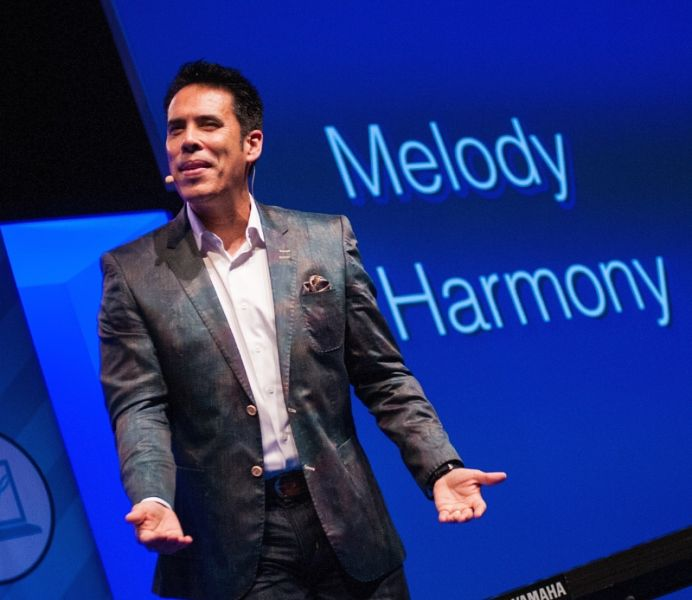 Freddie Ravel motivates audiences at recent Xero conference.