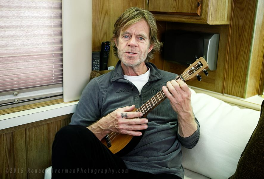 William H. Macy in his trailer on the Warner Bros. Lot