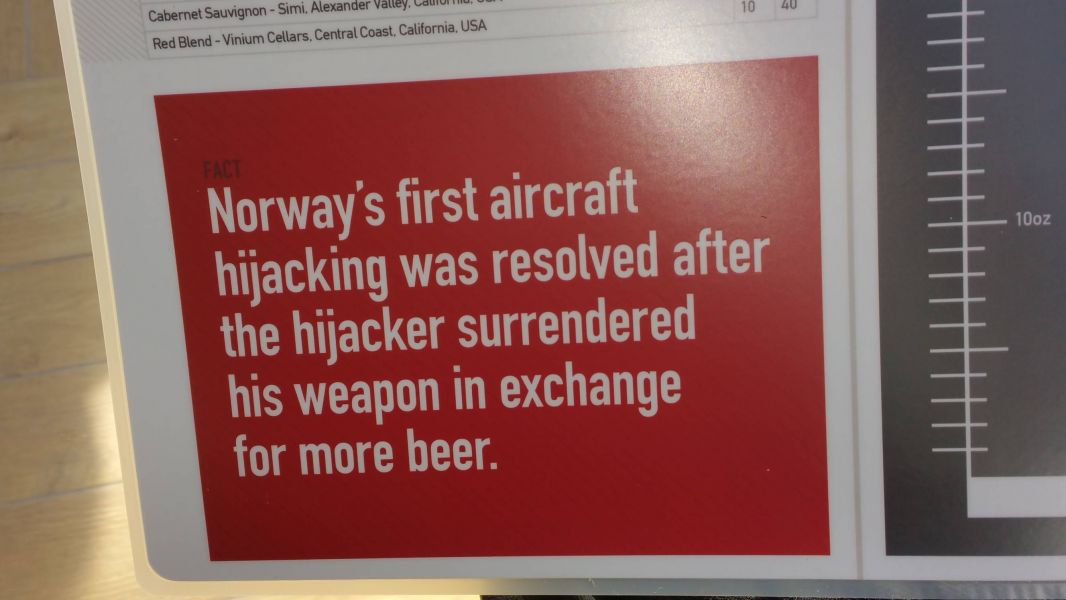 Trivia note on Beer Park menu