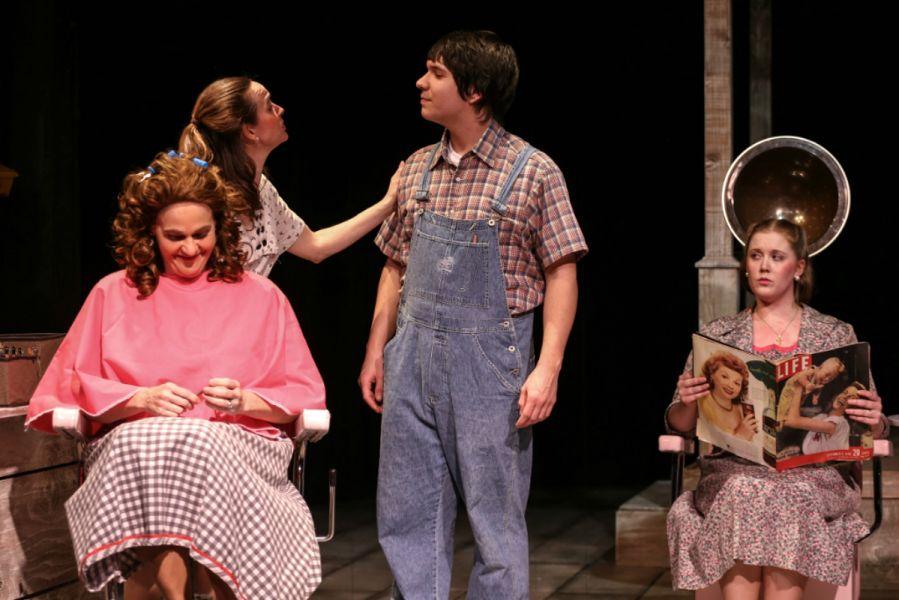 """Marcela (Neicie Packer), Ruby (Ellen Peters), B Flat (Aaron Mohs-Hale), Jimmy Deeanne (Jill Heinecke) in Tacoma Little Theatre's """"Secon"""