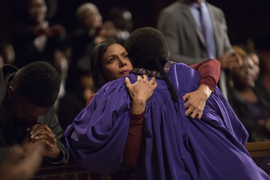 Grace Greenleaf (Merle Dandridge) and her father Bishop James Greenleaf (Keith David)