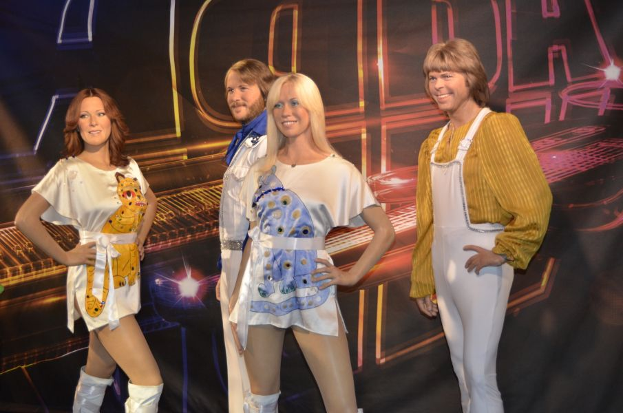 Immortalized here in wax form, ABBA is a member of the Rock and Roll Hall