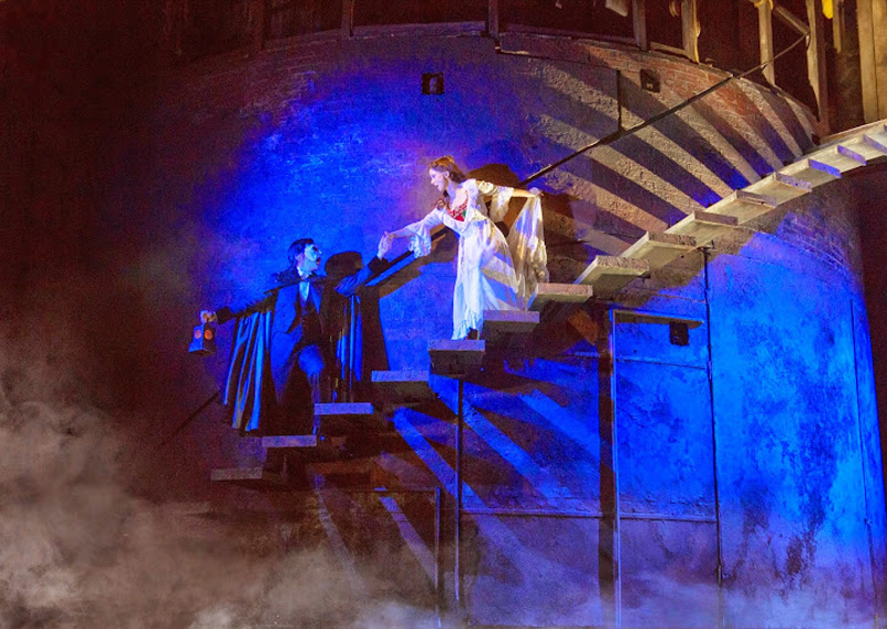 """The Journey"" – horizontal - (From L) Chris Mann as The Phantom and Katie Travis as Christine Daaé"