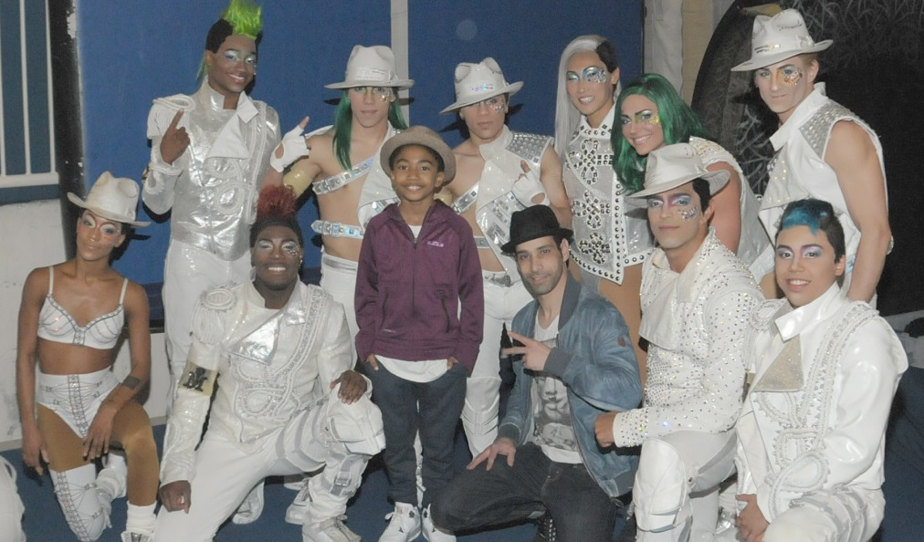 """Miles """"Baby Boogaloo"""" Brown at Michael Jackson ONE and """"O"""" by Cirque du Soleil"""