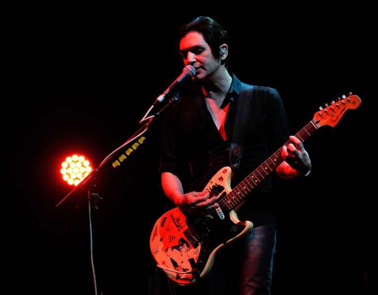 Brian Molko of Placebo performs during Sundance London at Indigo2 at O2 Arena on April 28, 2012 in London, England.