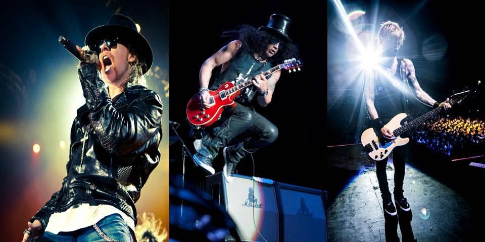 Axl, Slash and Duff
