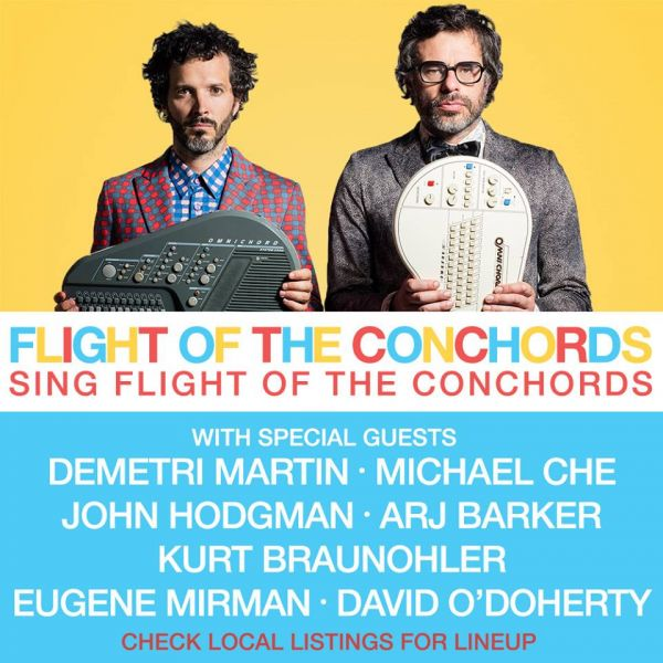 Poster for the 'Flight of the Conchords Sing Flight of the Conchords' 2016 North American tour