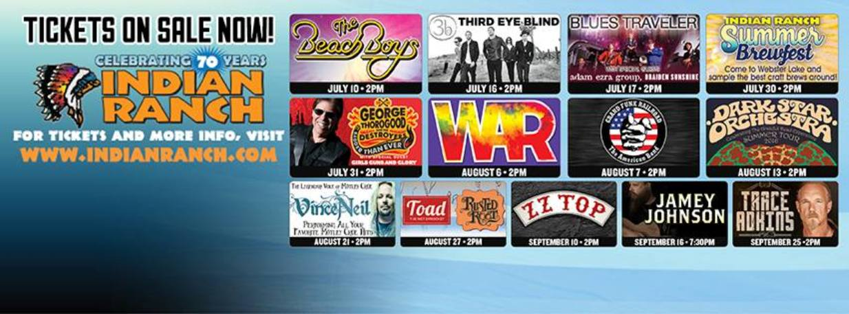 Tribute bands, comedy acts, summer activities, cruises, and more continue throughout the summer!