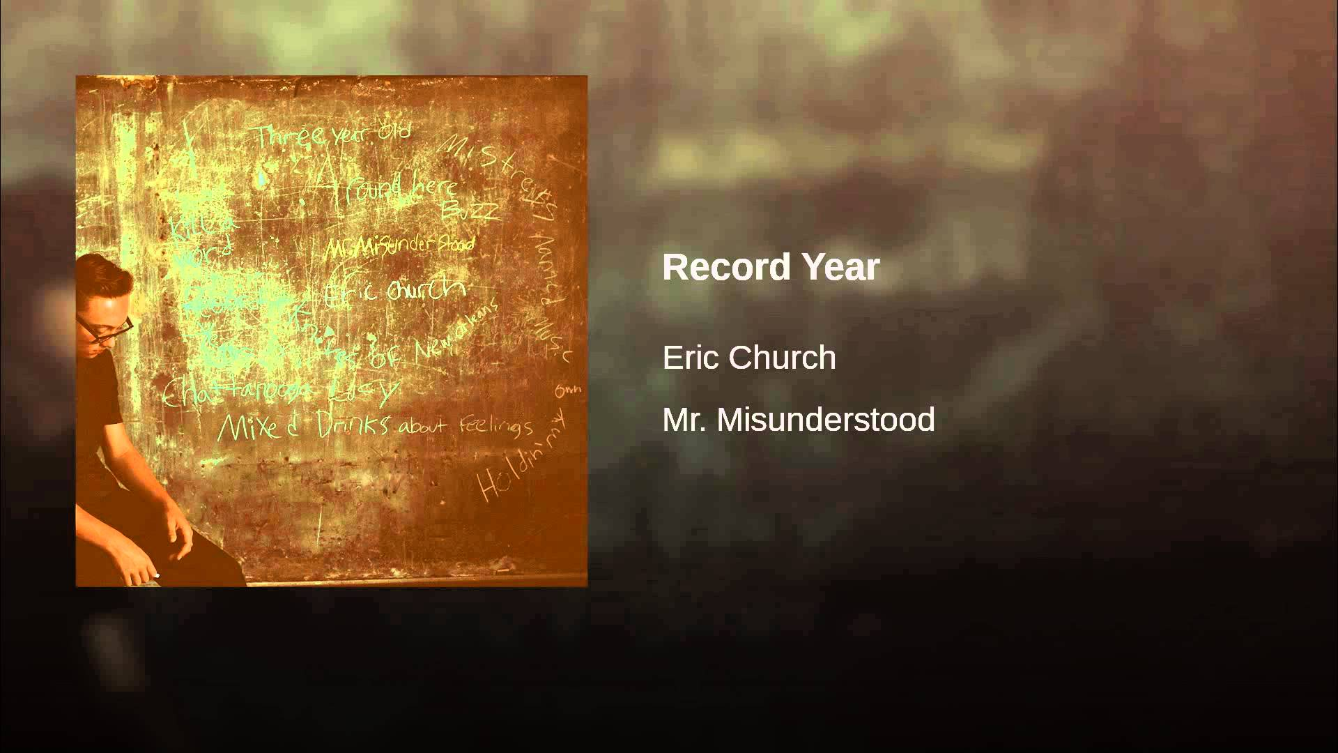 Listen to Eric Church's new single 'Record Year'
