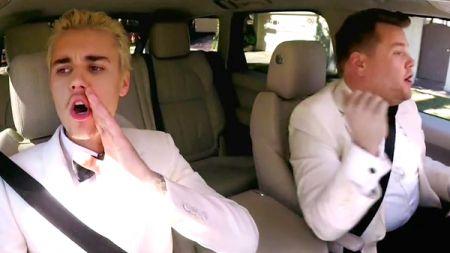 Justin Bieber wins first Grammy, sings Grammy carpool karaoke with James Corden