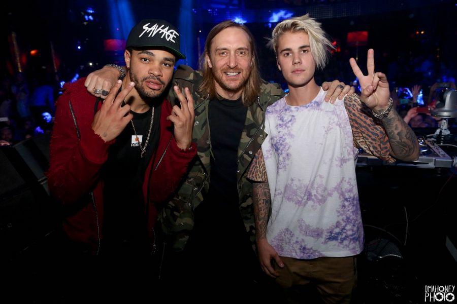 Justin Bieber and David Guetta take over XS Nightclub
