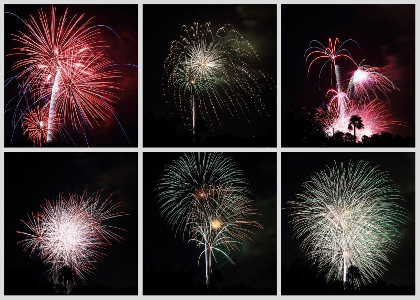 Fireworks - taken in Toluca Lake, CA