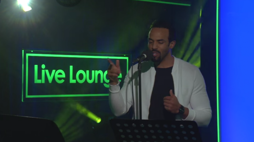 Craig David in the BBC Live Lounge