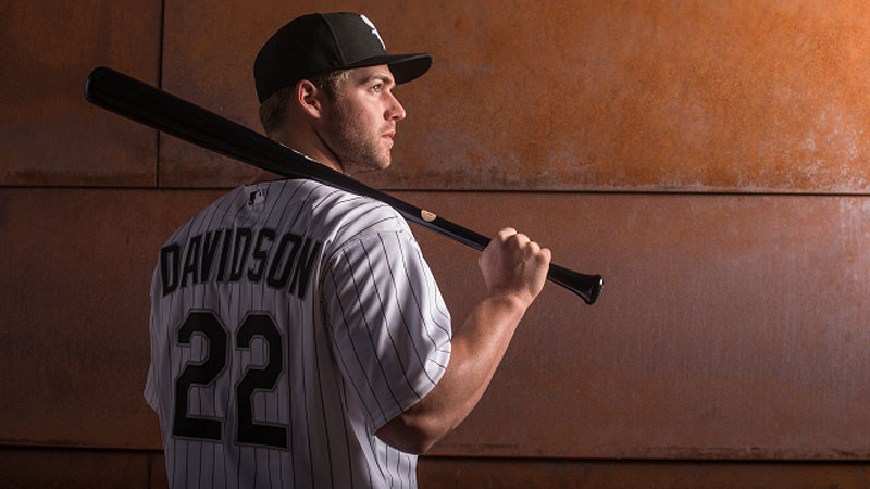 Matt Davidson's first game back to the majors since 2013 has landed him on the disabled list.