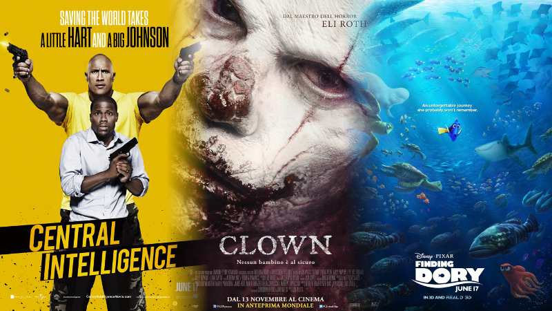 """""""Central Intelligence,"""" """"Clown"""" and """"Finding Dory"""""""