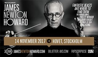 James Newton Howard - 3 Decades of Hollywood Music tickets at HOVET/Stockholm Live in Stockholm
