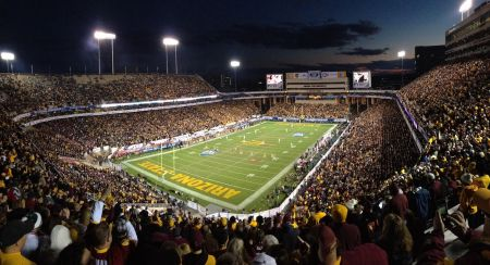 The 2013 Pac-12 Championship Game at Sun Devil Stadium in Tempe, AZ, featured the Stanford Cardinal and the Arizona State Sun Devils, and St