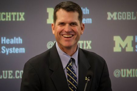 Jim Harbaugh and the Michigan Wolverines are not happy right now, after losing to Ohio State in double overtime last weekend. The Wolverines