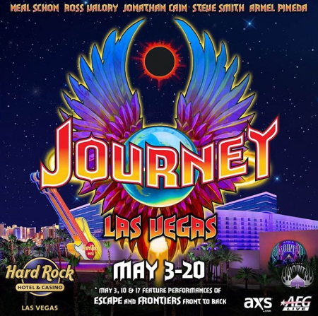 Don't Stop Believin' in Jouney as they revisit Las Vegas' iconic venue, The Joint