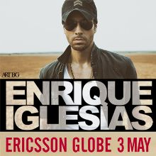 Enrique Iglesias tickets at ERICSSON GLOBE/Stockholm Live in Stockholm