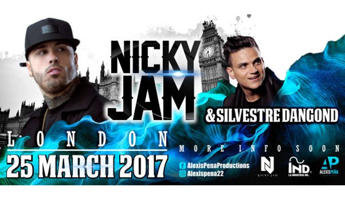Nicky Jam & Silvestre Dangond tickets at The SSE Arena, Wembley in London