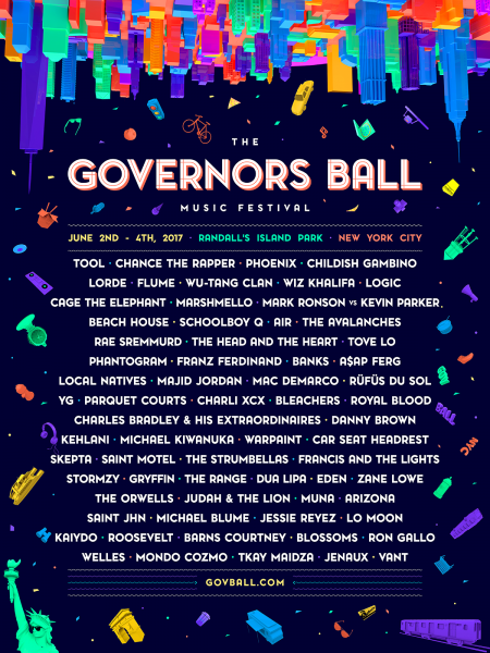 The Governor's Ball release their 2017 festival lineup