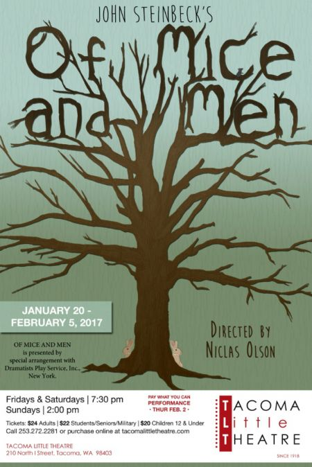 """""""Of Mice and men"""" continues through Feb. 5 at TLT."""