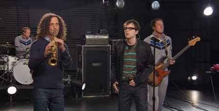 Kenny G and Weezer team up for one of the most interesting collaborations in their respective careers