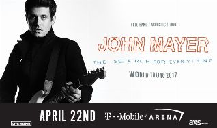 John Mayer tickets at T-Mobile Arena in Las Vegas